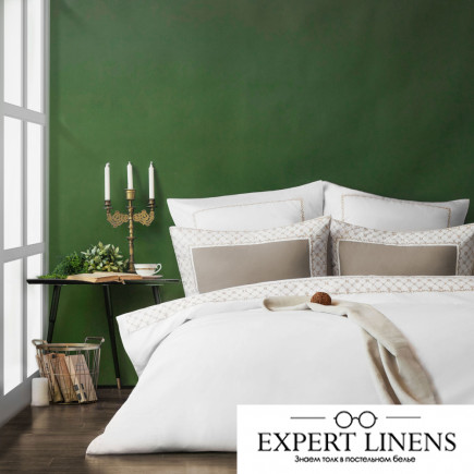Постельное белье Emanuel Цвет: Белый (2 сп. евро)