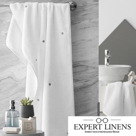Полотенце Пикси Цвет: Белый, Серый (70х140 см)