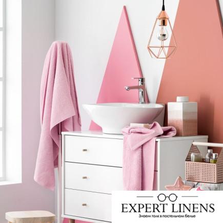Полотенце Лючия Цвет: Белый, Розовый (50х100 см,70х140 см)