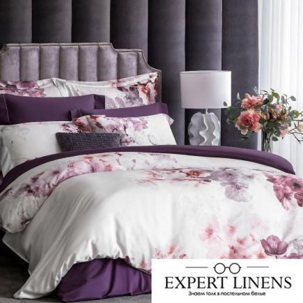 Постельное белье Вилма Цвет: Фиолетовый, Белый (2 сп. евро)